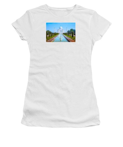 The Taj Mahal Of India Women's T-Shirt (Athletic Fit)