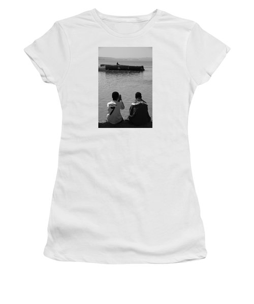 Women's T-Shirt (Junior Cut) featuring the photograph The Thoughts Of Mermaids  by Jez C Self