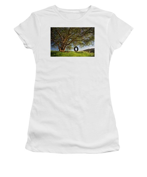 The Tire Swing Women's T-Shirt (Junior Cut) by Endre Balogh