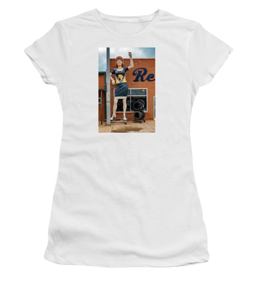 The Tornadoes Cheerleader Women's T-Shirt (Athletic Fit)