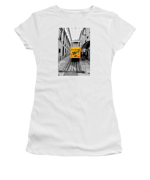 Women's T-Shirt (Junior Cut) featuring the photograph The Tram by Marwan Khoury