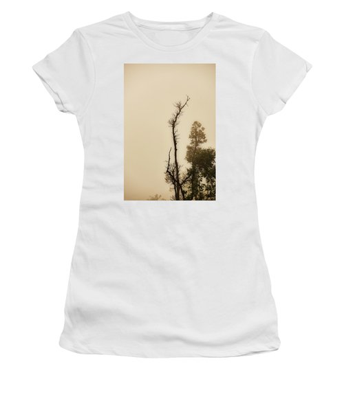 The Trees Against The Mist Women's T-Shirt (Junior Cut) by Rajiv Chopra