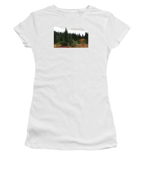Women's T-Shirt (Junior Cut) featuring the photograph The Trees by Lynn Hopwood