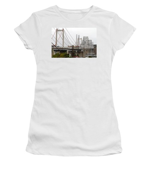 The Two Carquinez Bridges At Crockett And Vallejo California . Aka Alfred Zampa Memorial Bridge . 7d8919 Women's T-Shirt