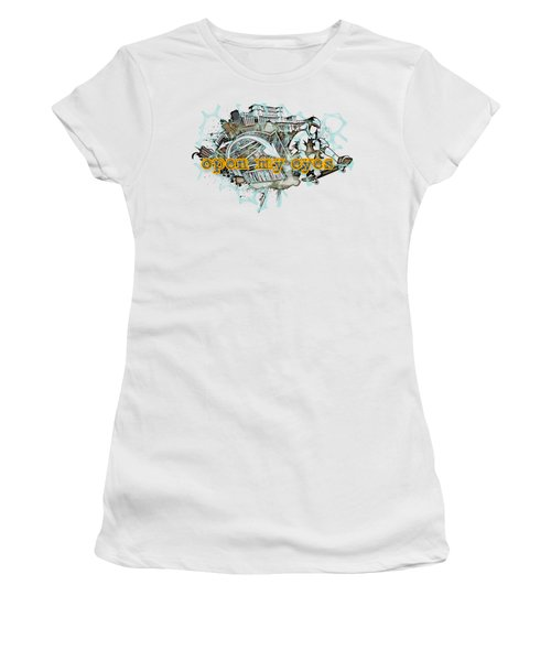 The Vail Is Upon Their Heart.  Women's T-Shirt