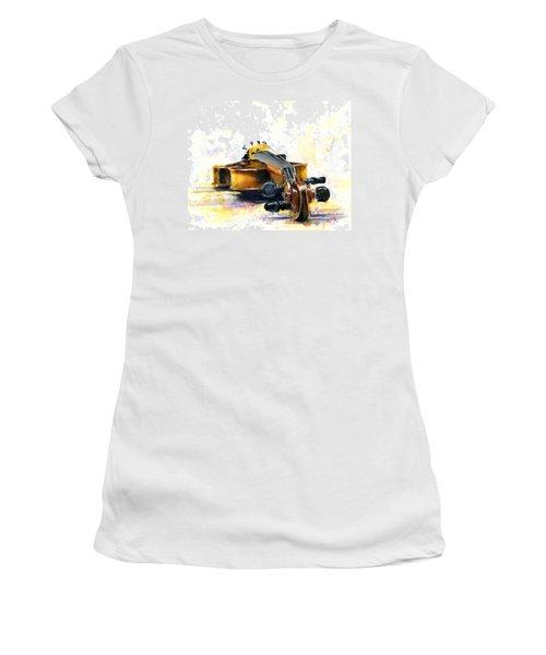 The Violin Women's T-Shirt (Junior Cut) by John D Benson