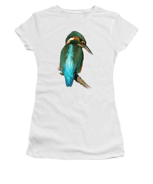 The Watchful Kingfisher T-shirt Women's T-Shirt (Junior Cut) by Tony Mills