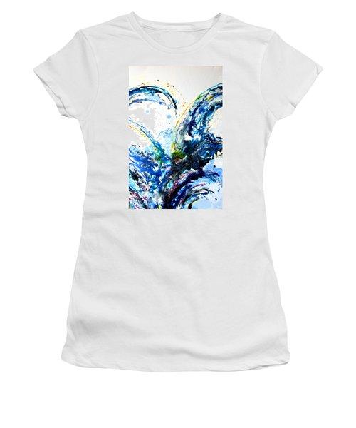 The Wave 2 Women's T-Shirt (Junior Cut) by Roberto Gagliardi