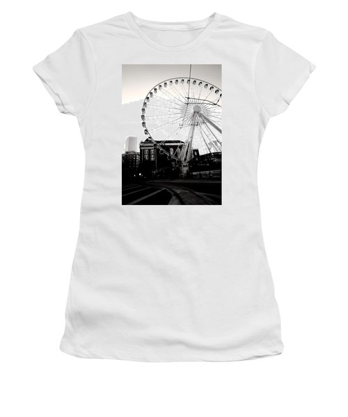 The Wheel Black And White Women's T-Shirt
