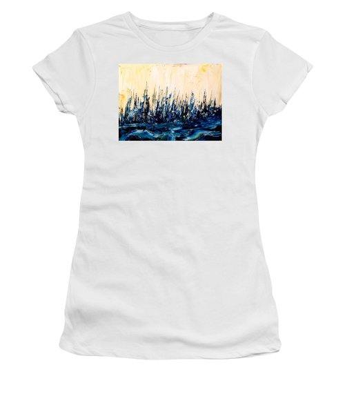 The Woods - Blue No.2 Women's T-Shirt (Athletic Fit)