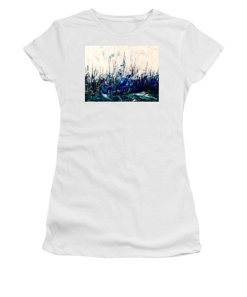 The Woods - Blue No.3 Women's T-Shirt (Athletic Fit)