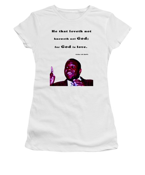 The Word Says..... Women's T-Shirt (Junior Cut) by Terry Wallace