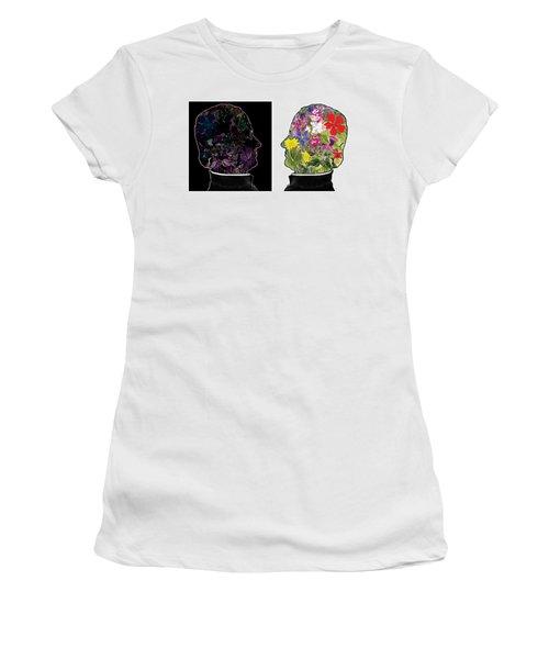 The Yin Yang Of Gregor Mendel Women's T-Shirt (Athletic Fit)