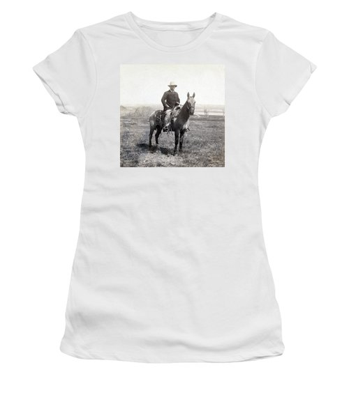 Theodore Roosevelt Horseback - C 1903 Women's T-Shirt (Athletic Fit)