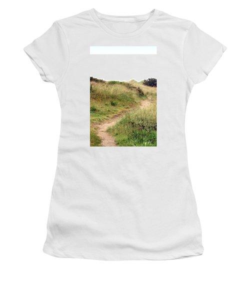 This Way To The Beach Women's T-Shirt (Junior Cut) by Joseph Skompski