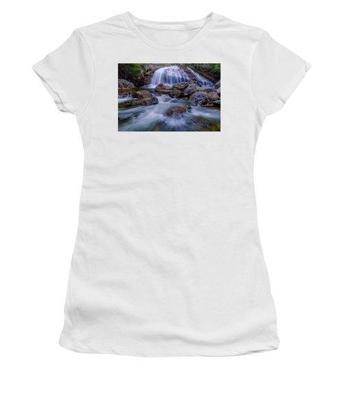 Women's T-Shirt featuring the photograph Thompson Falls, Pinkham Notch, Nh by Jeff Sinon