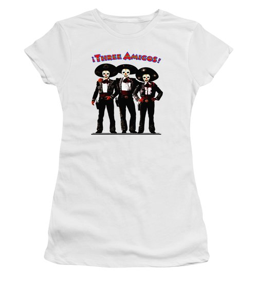 Women's T-Shirt (Junior Cut) featuring the photograph Three Amigos - Day Of The Dead by Bill Cannon