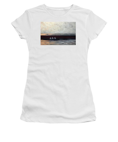 Three Boats Women's T-Shirt (Athletic Fit)