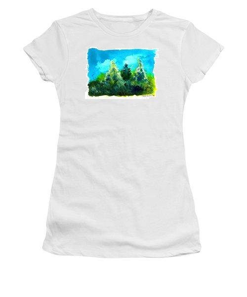 Three Evergreens Women's T-Shirt