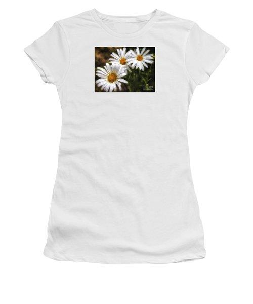 Three Flowers  ... Women's T-Shirt (Junior Cut) by Chuck Caramella