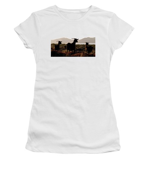 Three Goats Women's T-Shirt (Athletic Fit)