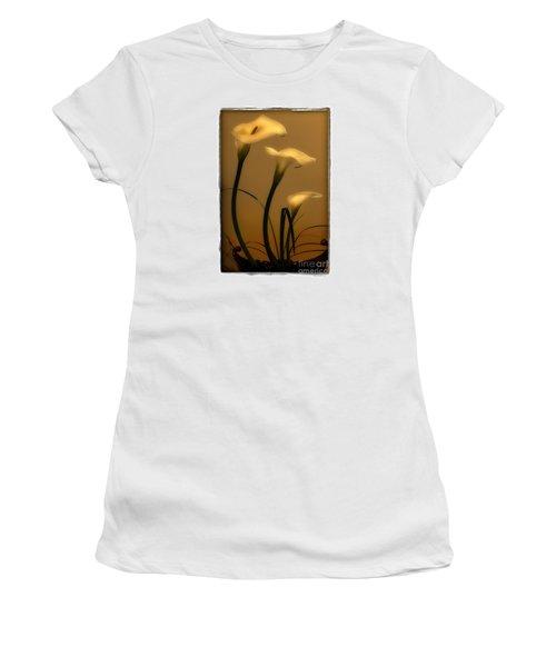 Women's T-Shirt (Junior Cut) featuring the photograph Three Lilies by Linda Olsen