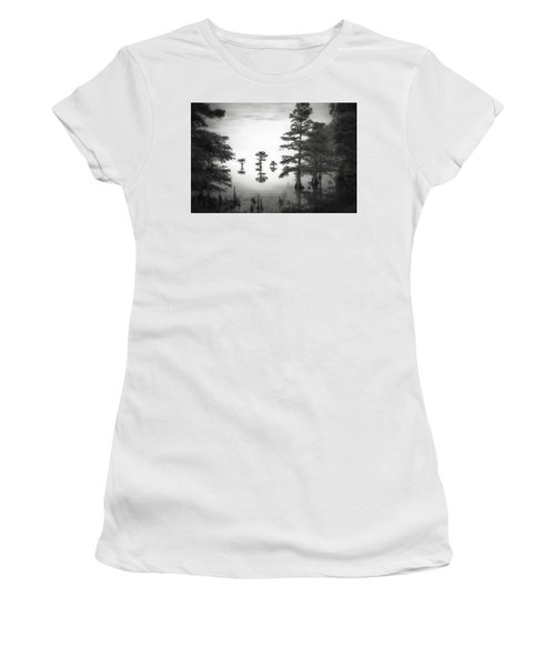 Women's T-Shirt (Junior Cut) featuring the photograph Three Little Brothers by Eduard Moldoveanu