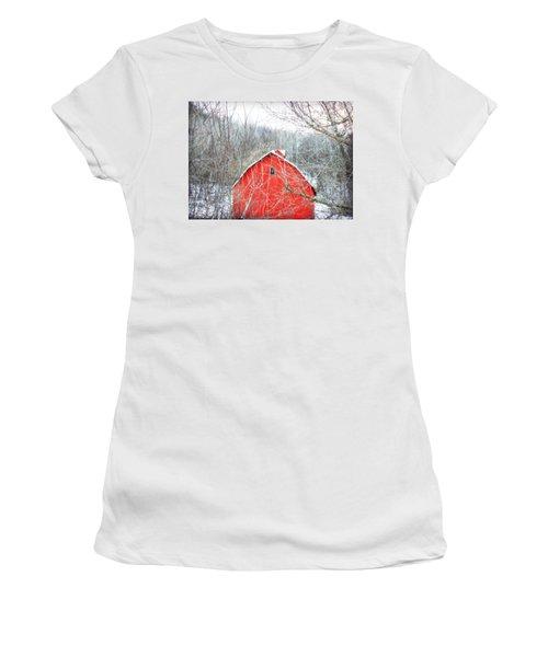 Women's T-Shirt (Junior Cut) featuring the photograph Through The Woods by Julie Hamilton