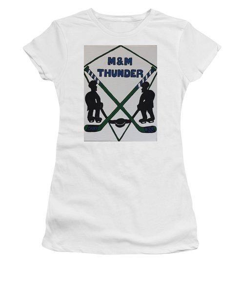 Thunder Hockey Women's T-Shirt (Junior Cut) by Jonathon Hansen