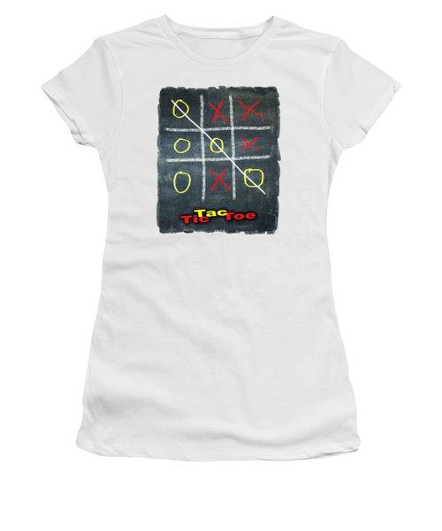 Tic Tac Toe Women's T-Shirt (Athletic Fit)