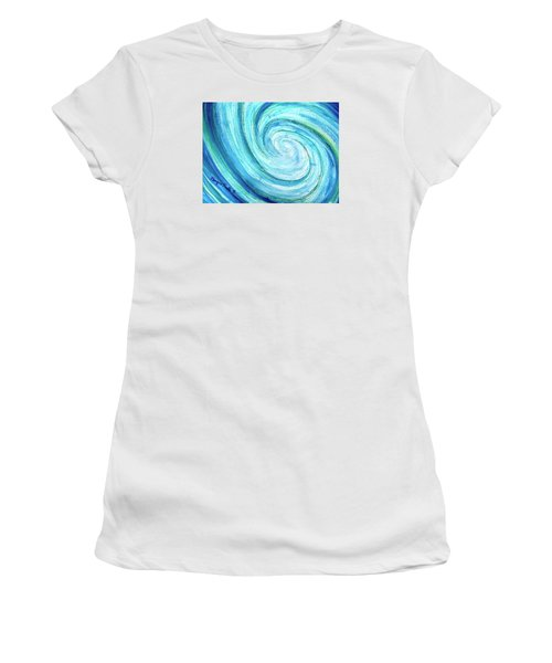 Women's T-Shirt featuring the painting Tidal by Monique Faella