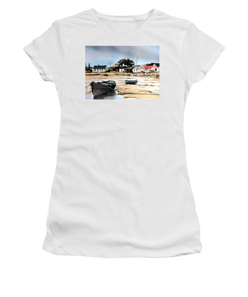 Tide Out In Erlak Roundstone Galway Women's T-Shirt (Athletic Fit)