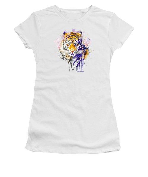 Tiger Head Portrait Women's T-Shirt