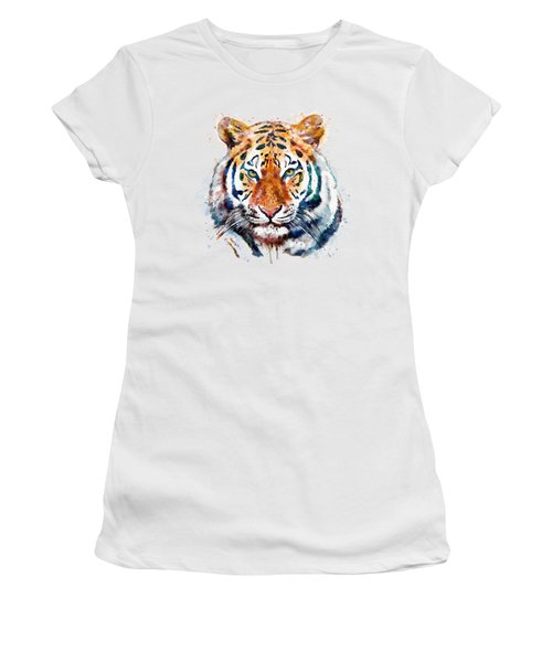 Tiger Head Watercolor Women's T-Shirt