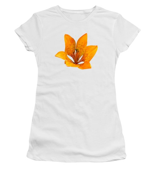 Tiger Lily 1 Trasparent Women's T-Shirt (Athletic Fit)