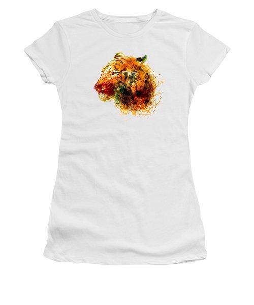 Tiger Side Face Women's T-Shirt