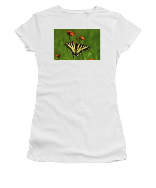 Tiger Swallowtail Butterfly Women's T-Shirt (Junior Cut) by Nancy Landry