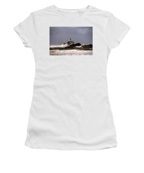 Tillamook Lighthouse Women's T-Shirt (Athletic Fit)