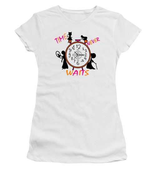 Time Never Waits Women's T-Shirt (Athletic Fit)