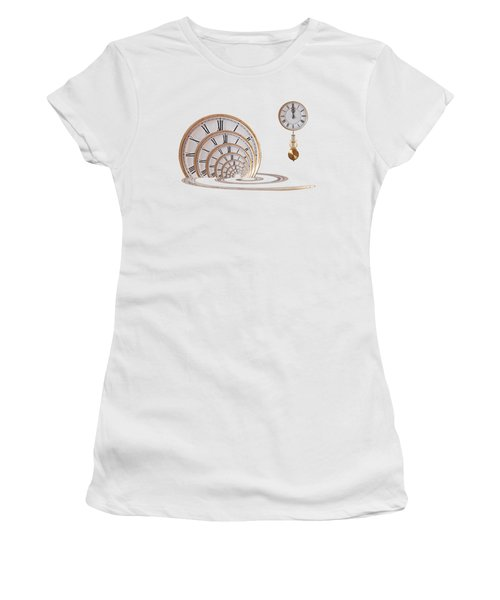 Time Portal In Red Women's T-Shirt