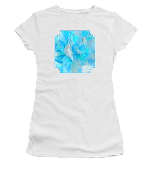Timeless Beauty In Blue Women's T-Shirt