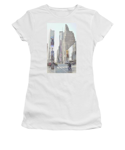 Times Square Street Scene Women's T-Shirt (Athletic Fit)