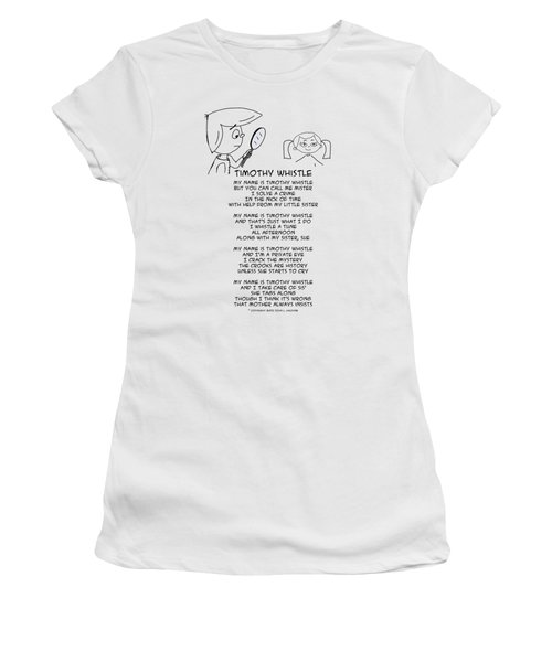 Women's T-Shirt (Athletic Fit) featuring the drawing Timothy Whistle by John Haldane