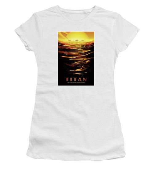 Titan - Ride The Tides Through The Throat Of Kraken - Vintage Na Women's T-Shirt