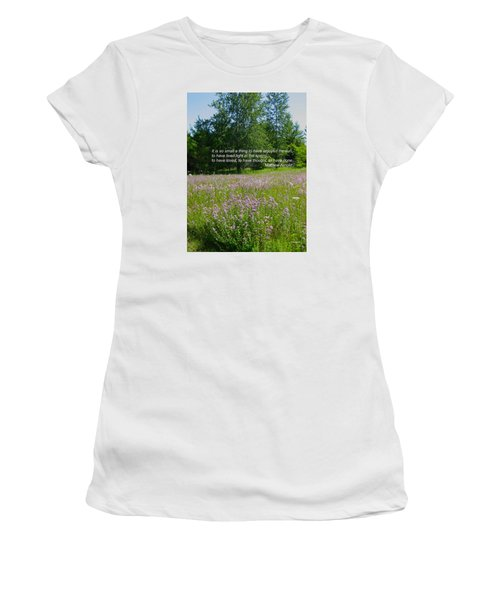 To Live Light In The Spring Women's T-Shirt (Junior Cut) by Deborah Dendler