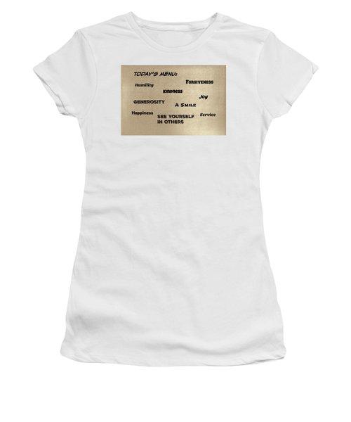 Today's Menu #1 Women's T-Shirt