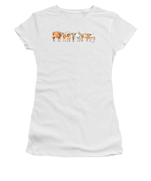 Together We Stand Watercolor Painting By Kmcelwaien Women's T-Shirt (Junior Cut) by Kathleen McElwaine
