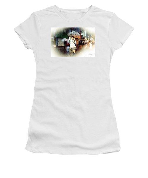 Rainy Tokyo Night Women's T-Shirt