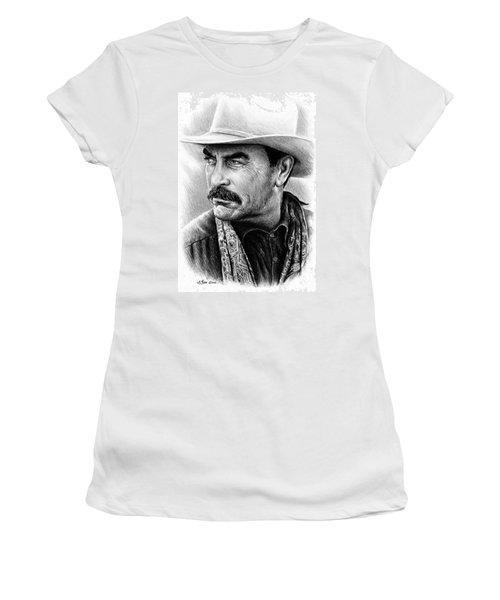 Tom Selleck As Monty Walsh Women's T-Shirt (Athletic Fit)
