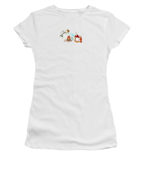 Women's T-Shirt (Junior Cut) featuring the digital art Too Toasted Illustrated by Heather Applegate